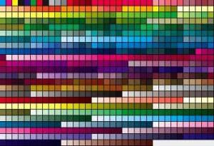 Paleta de cores padrão FOCOLTONE.