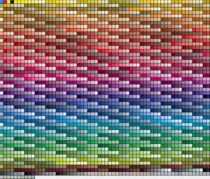 Paleta de cores padrão PANTONE.