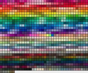 Paleta de cores padrão TOYO.